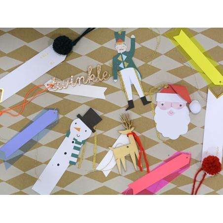 6 étiquettes cadeaux - vinyle bleu Meri Meri - 2