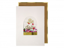"Card with confetti - ""Be Jolly"""