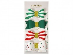Gift decorations - 4 colourful paper bows