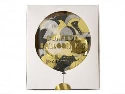 8 ballons à confettis noir et doré Meri Meri - 1