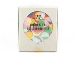 8 ballons à confettis multicolores