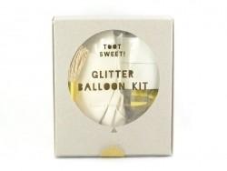 8 DIY glitter balloons