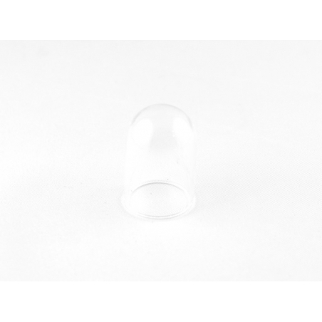 1 dome-shaped glass bottle - 25 x 38 mm