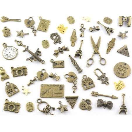 50 grams surprise set with pendants - bronze-coloured