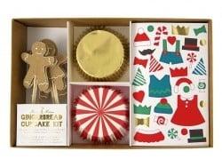 Set de 24 caissettes à cupcake et 12 cure-dents pain d'épices à décorer Meri Meri - 1