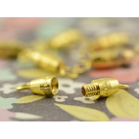 10 screw clasps - gold-coloured