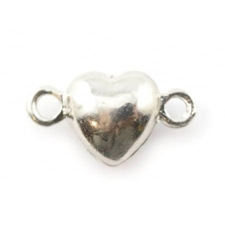 Acheter 1 fermoir aimanté en forme de coeur - couleur argent foncé - 2,49€ en ligne sur La Petite Epicerie - Loisirs créatifs