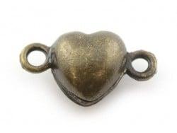 1 herzförmiger Magnetverschluss - bronzefarben