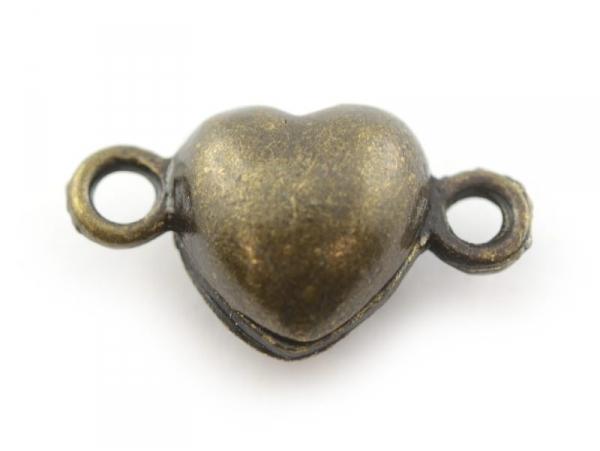 Acheter 1 fermoir aimanté en forme de coeur - couleur bronze - 2,49€ en ligne sur La Petite Epicerie - 100% Loisirs créatifs