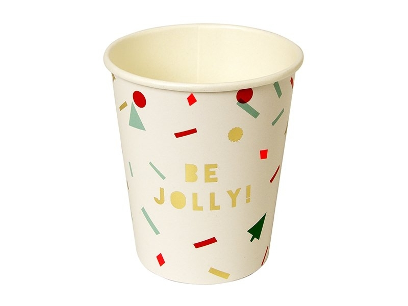 8 festive paper cups - Christmas