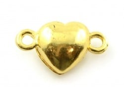 1 heart-shaped magnetic clasp - gold-coloured