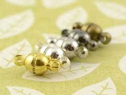 Acheter 1 petit fermoir aimanté rond - couleur argenté clair - 0,89€ en ligne sur La Petite Epicerie - Loisirs créatifs