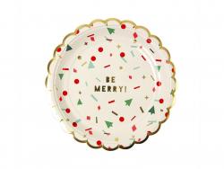 8 petites assiettes en carton festives - Noël
