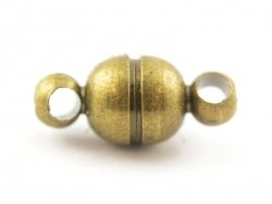 1 kleiner, runder Magnetverschluss - bronzefarben