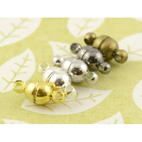 Acheter 1 petit fermoir aimanté rond - couleur bronze - 0,89€ en ligne sur La Petite Epicerie - Loisirs créatifs