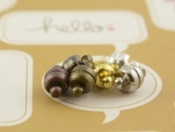 1 magnetic clasp - dark silver-coloured