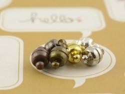 1 Magnetverschluss - bronzefarben