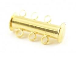 1 mehrreihiger Magnetverschluss - goldfarben