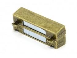 Fermoir aimanté rectangulaire 37 mm - couleur bronze  - 2