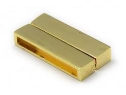 Rechteckiger Magnetverschluss (37 mm) - goldfarben