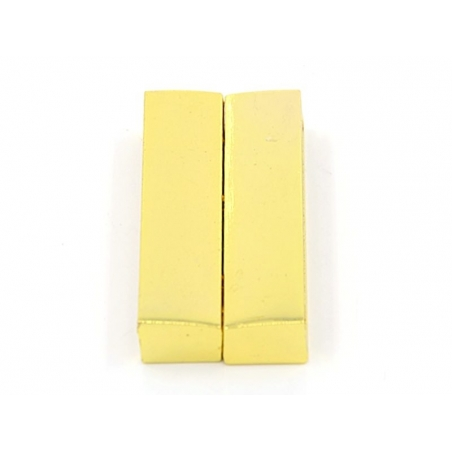 Rectangular magnetic clasp (37 mm) - gold-coloured