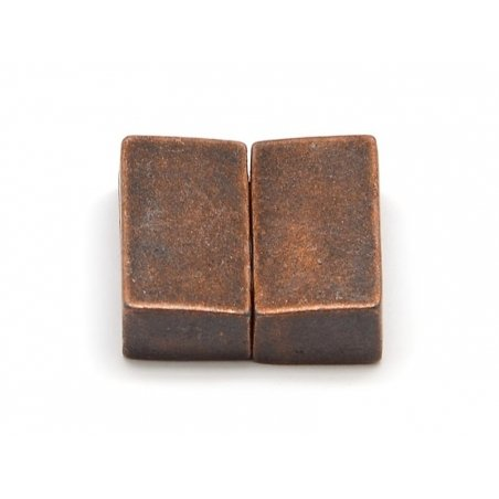Rectangular magnetic clasp (16 mm) - copper-coloured