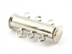 1 mehrreihiger Magnetverschluss - silberfarben (hell)
