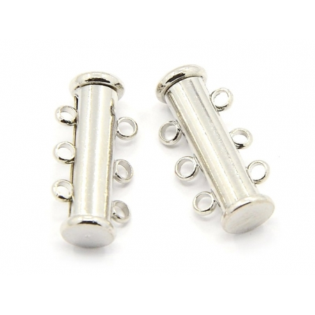 1 magnetic multi-row clasp - light silver-coloured