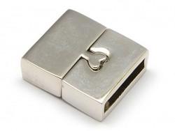 Rechteckiger Magnetverschluss (16 mm) - silberfarben
