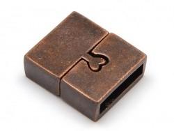 Fermoir aimanté rectangulaire 16 mm - couleur cuivre