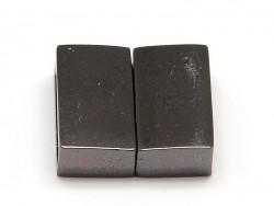 Rechteckiger Magnetverschluss (16 mm) - metallic-schwarz