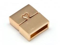 Rechteckiger Magnetverschluss (16 mm) - goldfarben