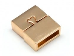 Rectangular magnetic clasp (16 mm) - gold-coloured