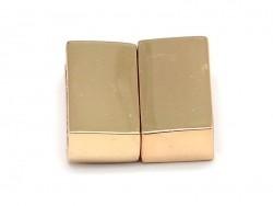 Fermoir aimanté rectangulaire 16 mm - couleur doré