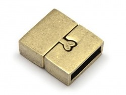 Rectangular magnetic clasp (16 mm) - bronze-coloured