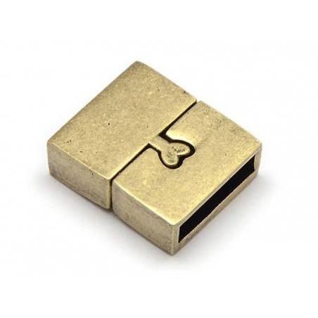 Fermoir aimanté rectangulaire 16 mm - couleur bronze