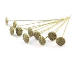 10 clous à tête ronde - spirale bronze