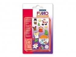 Coffret 6 pains de FIMO avec moules - Noël