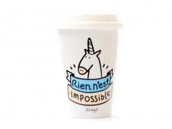 "Travel mug - ""Rien n'est impossible"""