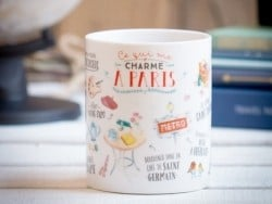 """Mug """"Ce qui me charme à Paris"""""""