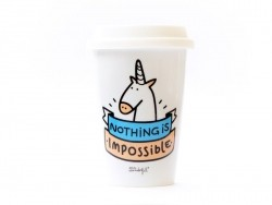"Travel mug - ""Nothing is impossible"""