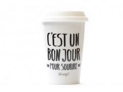 """Travel mug - """"C'est un bon jour pour sourire"""""""