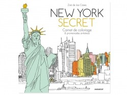 "French book "" New york secret - carnet de coloriage"""