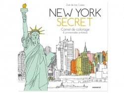 Livre New york secret - carnet de coloriage