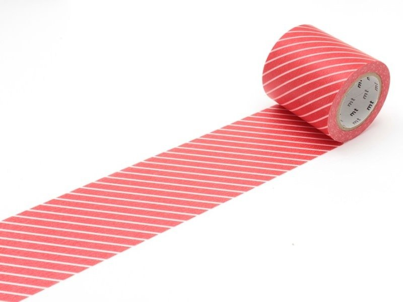 Masking tape Casa - rouge rayé blanc Masking Tape - 1
