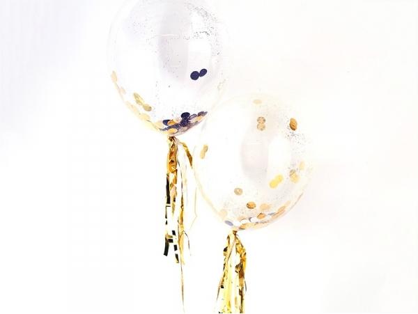 8 ballons à confettis noir et doré Meri Meri - 3