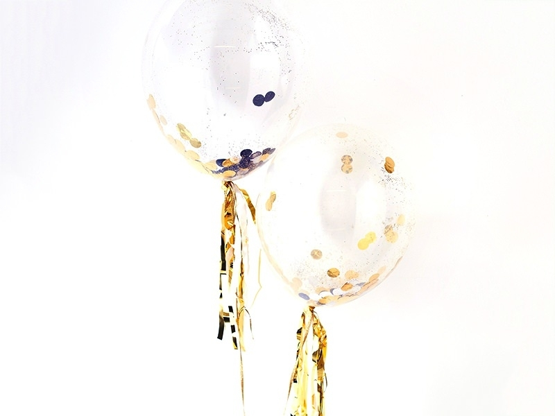 Acheter 8 ballons à confettis noir et doré - 18,90€ en ligne sur La Petite Epicerie - Loisirs créatifs