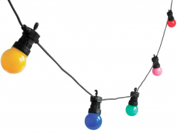 Guirlande lumineuse - ampoules multicolores LED