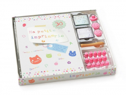 Ma petite imprimerie - stamp and ink pad kit for children
