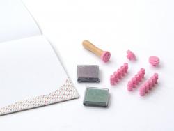 Ma petite imprimerie - coffret tampons et encreurs pour enfants